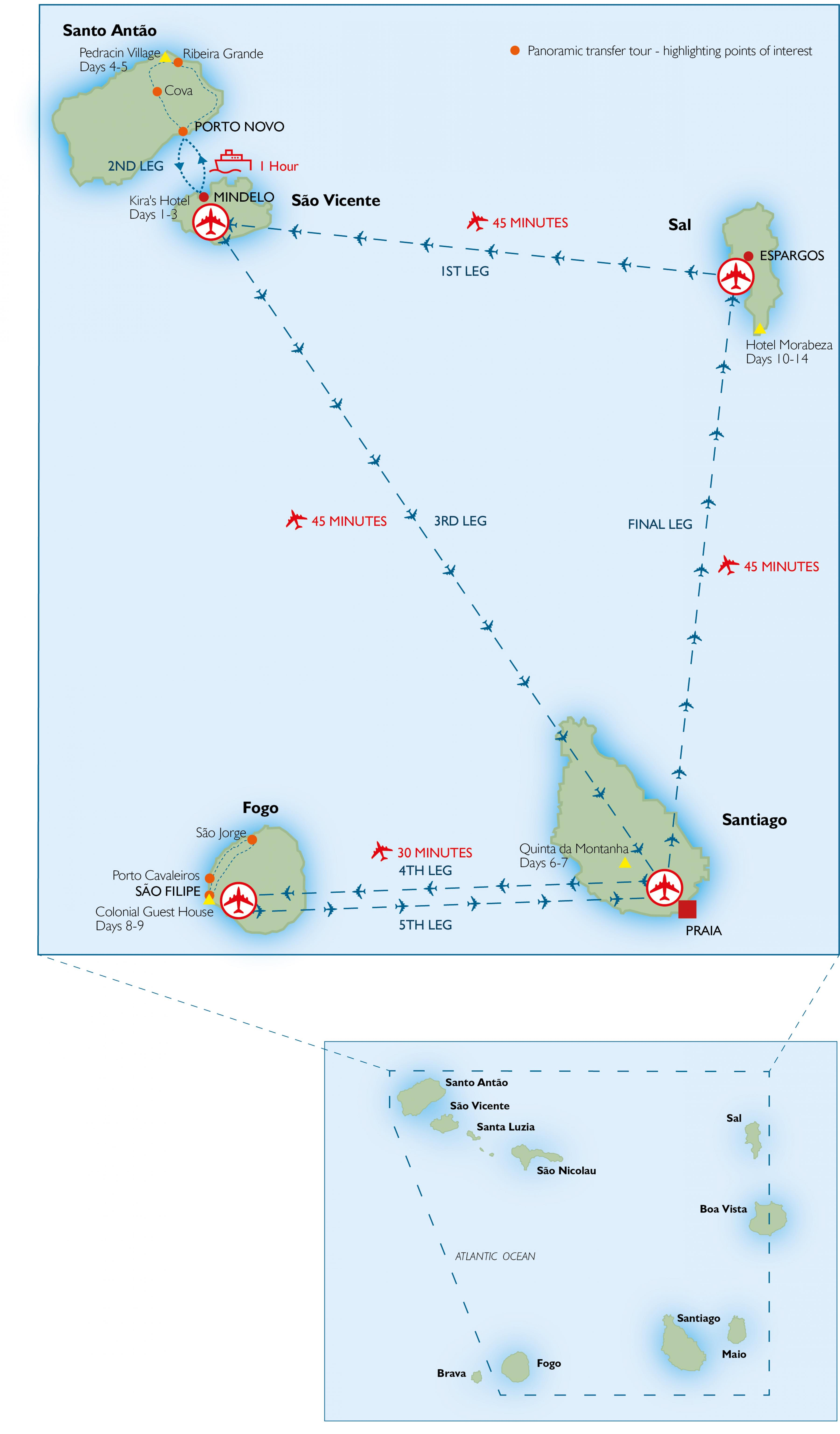 Cape Verde airports map - Map of Cape Verde airports ...