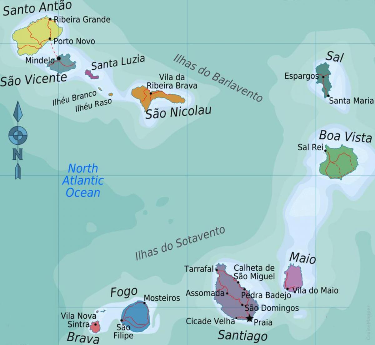 Cape Verde islands map location