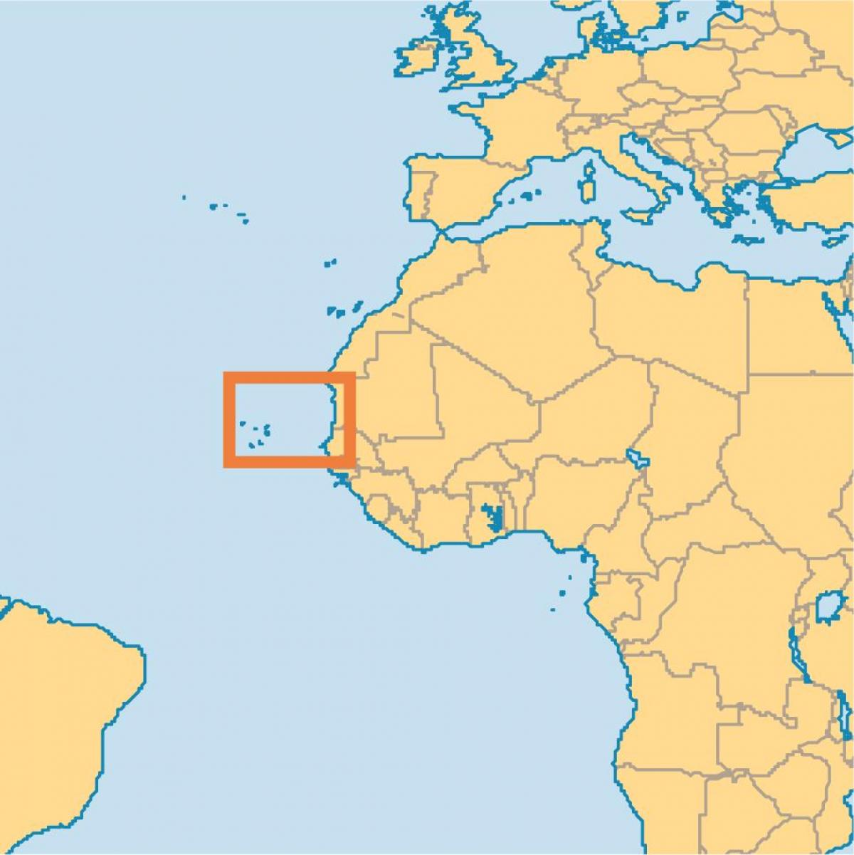show Cape Verde on world map