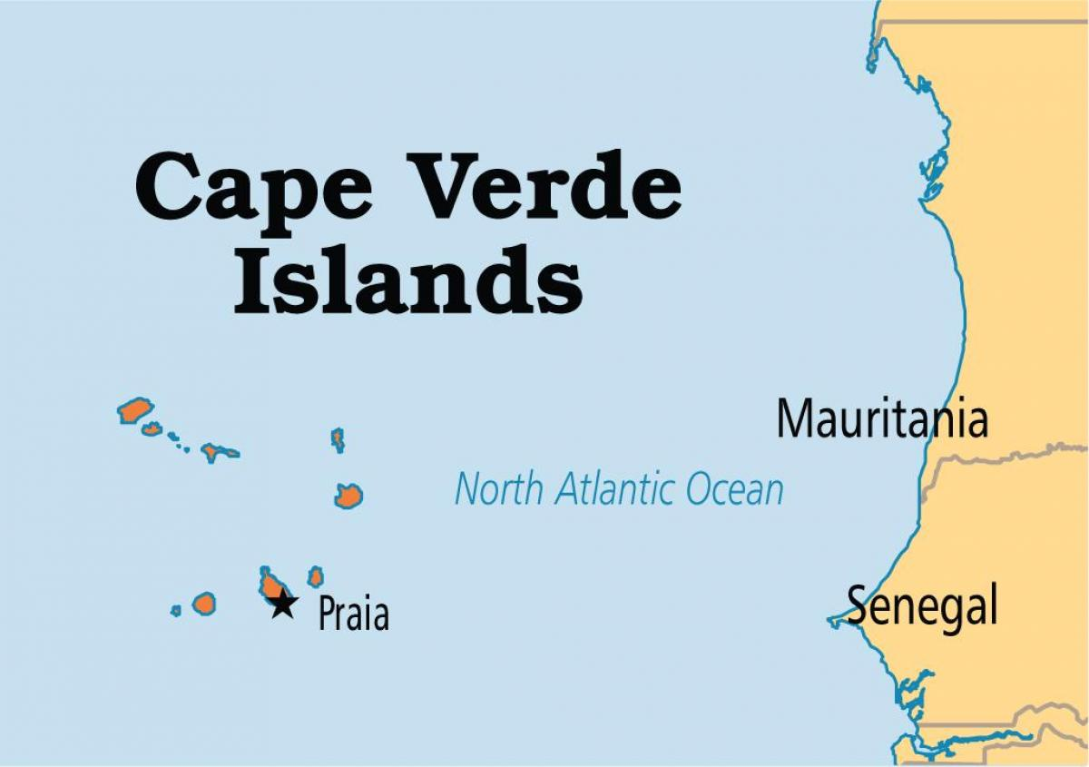 map of map showing Cape Verde islands