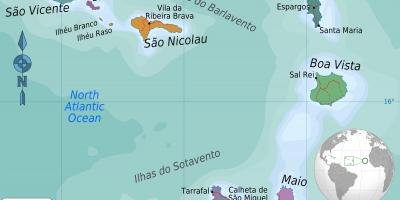 Cabo Verde - Cape Verde map - Maps Cabo Verde - Cape Verde (Western on